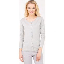 Swetry klasyczne damskie: Sweter z ozdobną lamówką