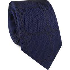Krawat jedwabny KWGR000232. Brązowe krawaty męskie marki Top Secret, w kropki, eleganckie. Za 129,00 zł.