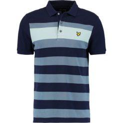 Koszulki polo: Lyle & Scott TEXTURED STRIPE Koszulka polo dark blue