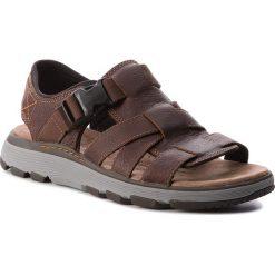 Sandały CLARKS - Un Trek Cove 261326207  Dark Tan Leather. Brązowe sandały męskie skórzane marki Clarks. W wyprzedaży za 229,00 zł.