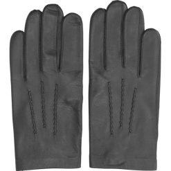 Rękawiczki barton czarny. Czarne rękawiczki męskie Recman, na zimę, ze skóry. Za 199,00 zł.