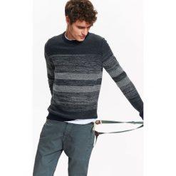 Golfy męskie: SWETER MĘSKI Z MELANŻOWEJ DZIANINY