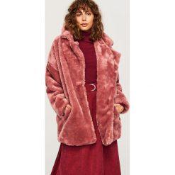 Futrzany płaszcz - Fioletowy. Fioletowe płaszcze damskie marki DOMYOS, l, z bawełny. Za 229,99 zł.