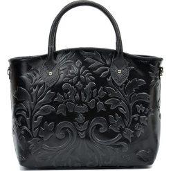 Torebki klasyczne damskie: Skórzana torebka w kolorze czarnym – 37 x 28 x 11 cm