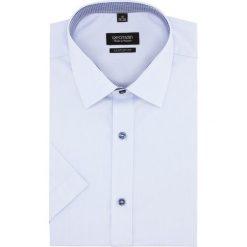 Koszula bexley 2322 krótki rękaw custom fit niebieski. Niebieskie koszule męskie na spinki Recman, m, z krótkim rękawem. Za 99,99 zł.