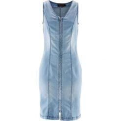 """Sukienki: Sukienka dżinsowa z zamkiem bonprix niebieski """"bleached"""""""