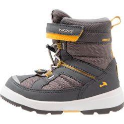 Viking PLAYTIME GTX  Śniegowce charcoal/sun. Brązowe buty zimowe damskie Viking, z materiału. W wyprzedaży za 246,35 zł.