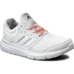 Buty adidas - Galaxy 3 W BB4371  Ftwwht/Crywh. Szare buty do biegania damskie marki KALENJI, z gumy. W wyprzedaży za 169,00 zł.