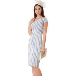 Sukienki hiszpanki: Sukienka w kolorze szaro-niebieskim