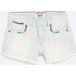 Tommy Hilfiger - Szorty dziecięce 98-152 cm. Czarne szorty jeansowe damskie marki Mayoral, w paski, casualowe. W wyprzedaży za 129,90 zł.