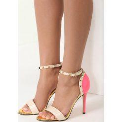 Beżowo-Fuksjowe Sandały Pictures Of Vogue. Brązowe sandały damskie vices, na wysokim obcasie. Za 89,99 zł.