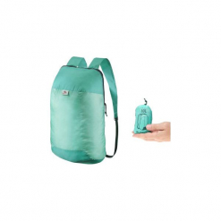 Plecak turystyczny ultra compact 10 l. Zielone plecaki męskie marki QUECHUA, z materiału. Za 7,99 zł.