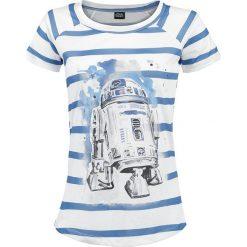 Star Wars R2D2 Koszulka damska biały/niebieski. Białe bluzki asymetryczne Star Wars, s, z motywem z bajki, z materiału, retro. Za 79,90 zł.