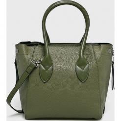 Answear - Torebka. Szare torebki klasyczne damskie ANSWEAR, w paski, z materiału, średnie. Za 129,90 zł.