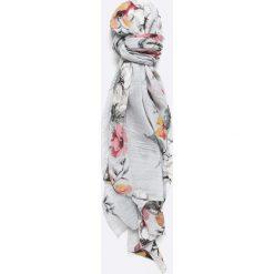 Answear - Szal. Szare szaliki damskie ANSWEAR, w kwiaty, z tkaniny. W wyprzedaży za 29,90 zł.