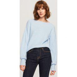 Sweter - Niebieski. Niebieskie swetry klasyczne damskie Reserved, l. Za 89,99 zł.