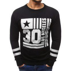 Bluzy męskie: Bluza męska z nadrukiem czarna (bx1184)