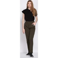 Spodnie dresowe damskie: Ciemnozielone Spodnie Dresowe Workers