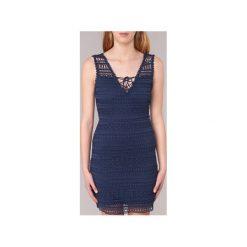 Sukienki krótkie Morgan  RAFINA. Niebieskie sukienki mini marki Morgan, z krótkim rękawem. Za 230,30 zł.