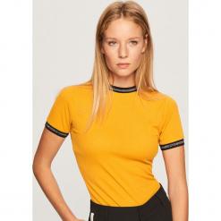 T-shirt - Żółty. Żółte t-shirty damskie marki Reserved, m. Za 49,99 zł.