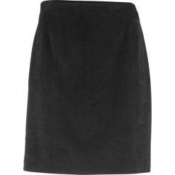 Spódnica welurowa z zamkiem bonprix czarny. Czarne spódniczki bonprix, z weluru. Za 89,99 zł.