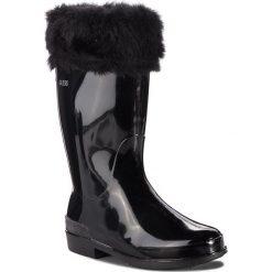 Kalosze GUESS - FJPAL4 RUB11 001. Czarne buty zimowe damskie Guess, z materiału. Za 219,00 zł.