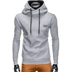 Bluzy męskie: BLUZA MĘSKA Z KAPTUREM B790 – SZARA