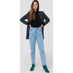 NA-KD Jeansy Open Hem - Blue. Niebieskie jeansy damskie NA-KD, z jeansu. Za 202,95 zł.