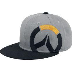 Overwatch Logo Czapka Snapback odcienie szarego/czarny. Czarne czapki z daszkiem damskie Overwatch, z aplikacjami, z tworzywa sztucznego. Za 79,90 zł.