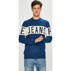 Pepe Jeans - Sweter Downing. Niebieskie swetry klasyczne męskie marki Reserved, l, z okrągłym kołnierzem. Za 299,90 zł.