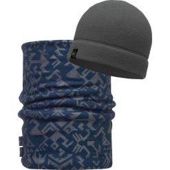 Czapki męskie: Buff Zestaw Buff Czapka Polarowa + Reversible Polar Neckwarmer Storm Blue kolor szaro-niebieski, dla dorosłych  (BUF116129.702.10.00)
