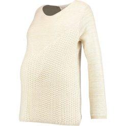Pomkin LINDA  Sweter off white glitter. Białe swetry klasyczne damskie Pomkin, m, z bawełny. Za 439,00 zł.