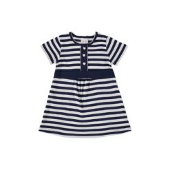 Pink or Blue Sukienka marine paski. Niebieskie sukienki niemowlęce pink or blue, w paski, z bawełny. Za 39,00 zł.