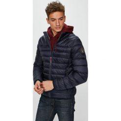 Napapijri - Kurtka. Szare kurtki męskie pikowane marki Napapijri, l, z materiału, z kapturem. Za 799,90 zł.