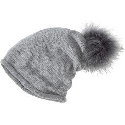 Czapka beanie z pomponem bonprix jasnoszary melanż. Szare czapki zimowe damskie marki bonprix, melanż. Za 34,99 zł.