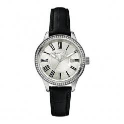 """Zegarek """"A12652M"""" w kolorze czarnym. Czarne zegarki damskie Hugo Boss, Festina & Joop!, ze stali. W wyprzedaży za 369,95 zł."""