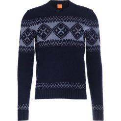 BOSS CASUAL KIONAS Sweter dark blue. Niebieskie kardigany męskie BOSS Casual, m, z materiału, casualowe. W wyprzedaży za 428,45 zł.