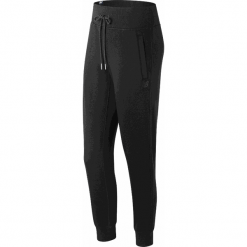 New Balance WP81548BK. Czarne spodnie dresowe damskie marki KIPSTA, l, z bawełny, na fitness i siłownię. W wyprzedaży za 129,99 zł.