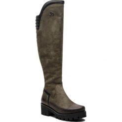 Muszkieterki EVA MINGE - Barrios 4P 18SM1372497EF 469. Czarne buty zimowe damskie marki Kazar, ze skóry, na wysokim obcasie. W wyprzedaży za 449,00 zł.
