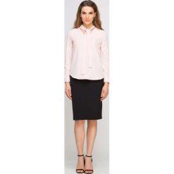 Bralety: Różowa Bluzka Wizytowa z Wiązaną Kokardą