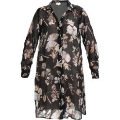 Koszule wiązane damskie: Zizzi Koszula black combo