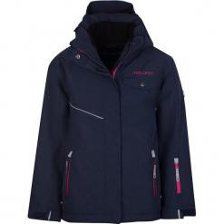 """Kurtka narciarska """"Hovden"""" w kolorze granatowo-różowym. Niebieskie kurtki dziewczęce przeciwdeszczowe marki Trollkids. W wyprzedaży za 202,95 zł."""
