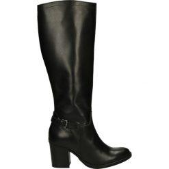 Kozaki ocieplane - 7234209 NERO. Czarne buty zimowe damskie marki Kazar, ze skóry, na wysokim obcasie. Za 299,00 zł.