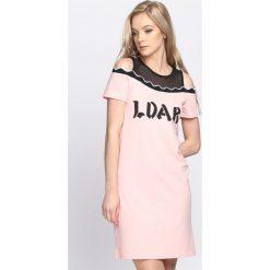 Różowa Sukienka LDAR. Czerwone sukienki letnie Born2be, m. Za 49,99 zł.