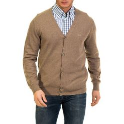 Swetry rozpinane męskie: Kardigan w kolorze jasnobrązowym
