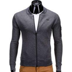 Bluzy męskie: BLUZA MĘSKA ROZPINANA BEZ KAPTURA B551 – GRAFITOWA