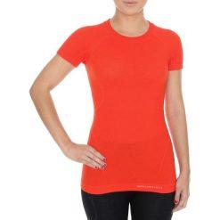 Bluzki sportowe damskie: Brubeck Koszulka damska z krótkim rękawem Active Wool pomarańczowa r. XL (SS11700)