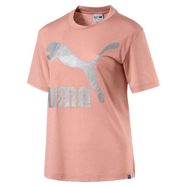 25b54dd526 KOSZULKA PUMA CLASSIC 575067 31 - Różowe koszulki damskie Puma