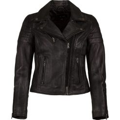 Bomberki damskie: Skórzana kurtka w kolorze antracytowym