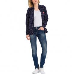 """Dżinsy """"Melinda"""" - Skinny fit - w kolorze niebieskim. Niebieskie rurki damskie marki Cross Jeans, z aplikacjami. W wyprzedaży za 136,95 zł."""
